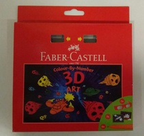 marcadores 3D ART Colour-By-Number FABER CASTELL (Nuevo)