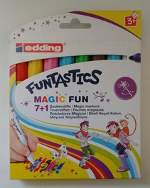 Marcadores EDDING FUNTASTICS Magic Fun x 7+1 (8 en total) (Nuevo)